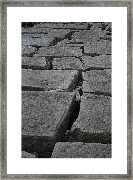 Stone Walk Framed Print by Dennis Curry