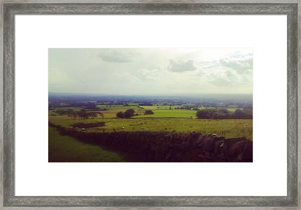 Stone Wall, Beacon Fell, Lancashire, Uk Framed Print