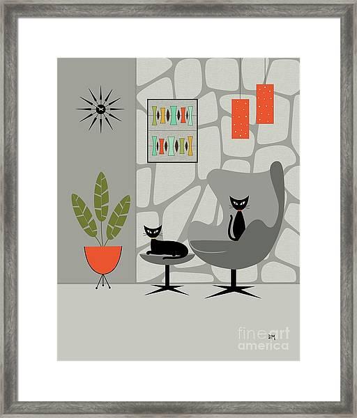 Stone Wall Gray Tones Framed Print