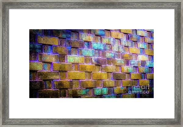 Brick Wall In Abstract 499 Framed Print