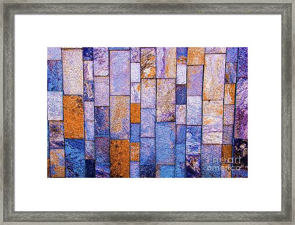 Stone Wall In Abstract 543 Framed Print