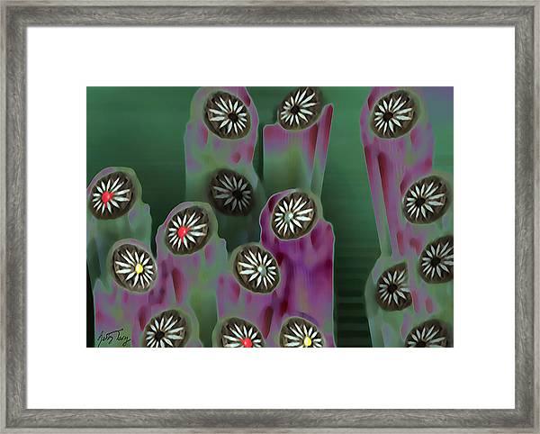 Stoned Flowers Framed Print