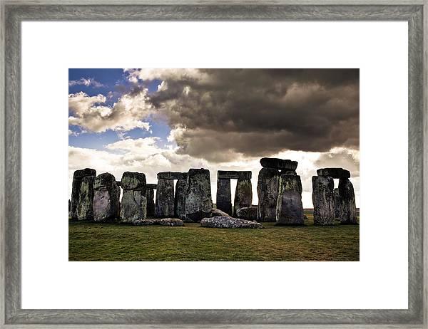 Stonehenge After The Storm Framed Print