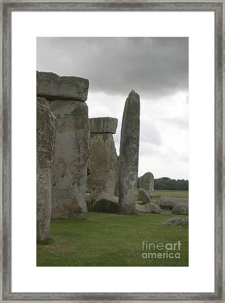 Stonehenge Side Pillars Framed Print