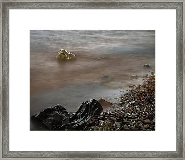 Stones On The Shore Of Lake Superior Framed Print