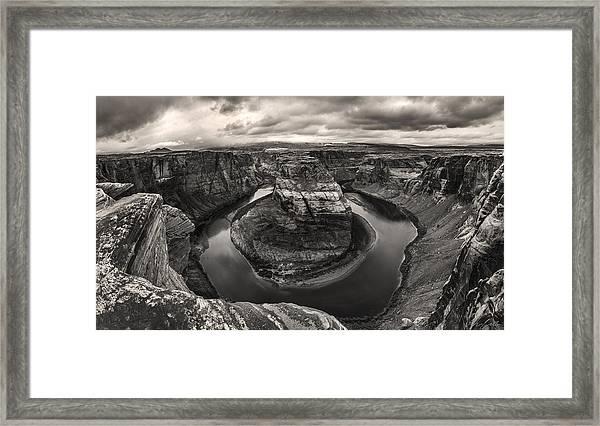 Storm At Horseshoe Bend Framed Print