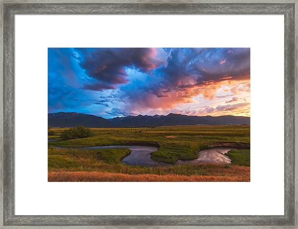 Storm At Prairie Creek Framed Print