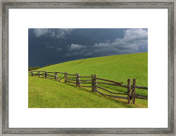Storm At The Lump Framed Print by Jim Neal