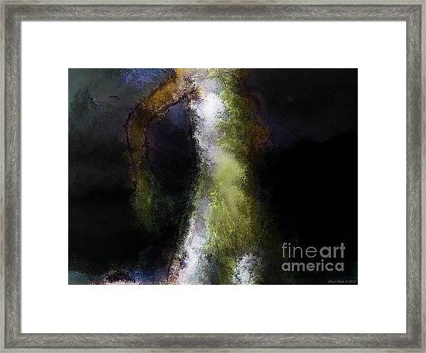 Storm Before Success Framed Print by Shan Peck