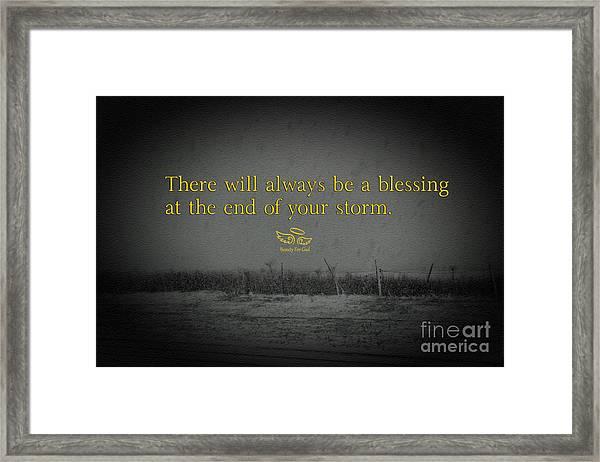Storm Blessings Framed Print