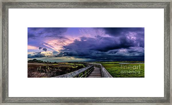 Framed Print featuring the photograph Storm Clouds by DJA Images