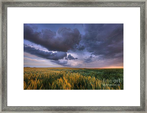 Storm Clouds Over Barley Framed Print
