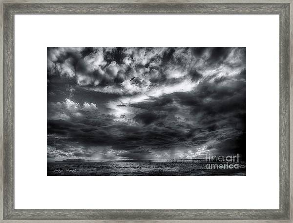Storm Clouds Ventura Ca Pier Framed Print