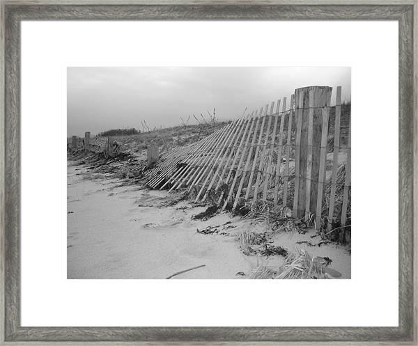 Storm Damage Framed Print