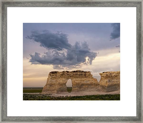 Storm Dragon Framed Print
