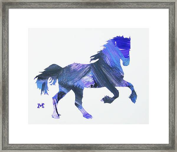 Framed Print featuring the painting Storm Horse by Candace Shrope