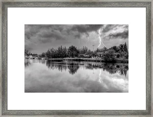 Storm In Paradise Framed Print