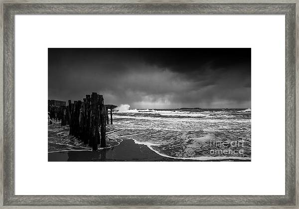 Storm In Saint-malo Framed Print