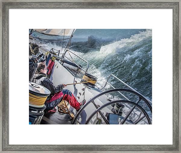 Storm In San Francisco Bay Framed Print