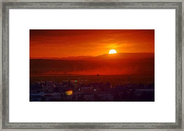 Storm In The Desert Framed Print