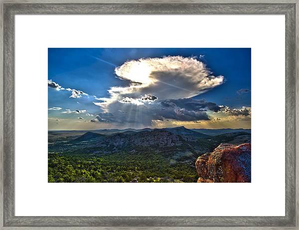Storm In The Heavens Framed Print