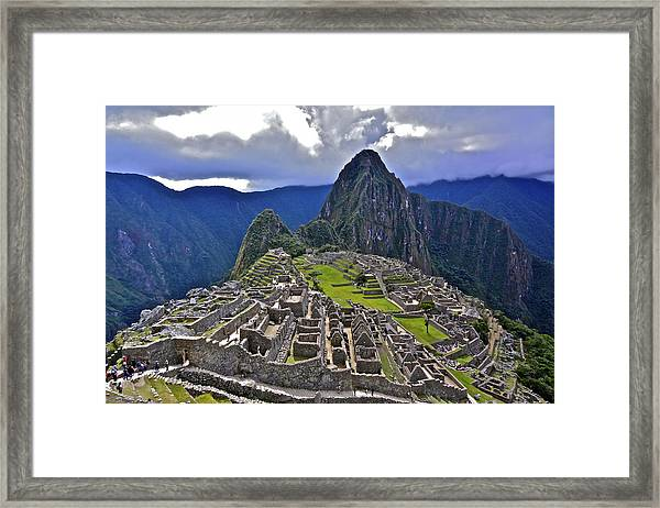 Storm Inbound To Machu Picchu Framed Print