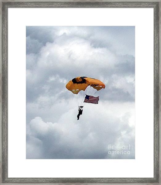 Storm Jump Framed Print
