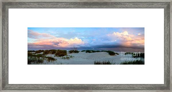 Storm Of Pastels Framed Print