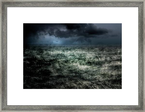 Storm On The Sound Framed Print