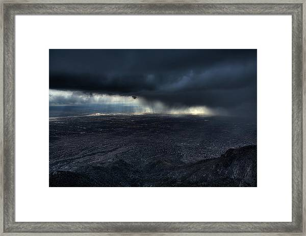 Storm Over Alburquerque Framed Print