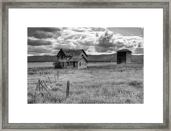 Storm Over Big Sky Montana Framed Print