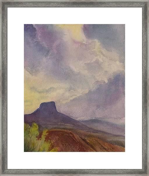 Storm Over Pedernal Framed Print