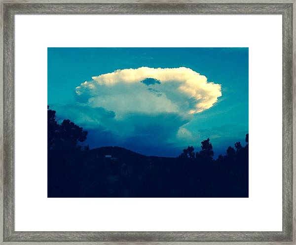 Storm Over Santa Fe Framed Print