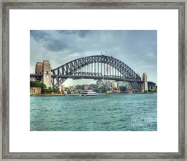 Storm Over Sydney Harbour Bridge Framed Print by Chris Smith