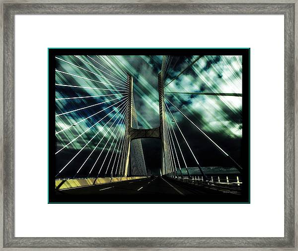 Storm Over The Bridge  Framed Print