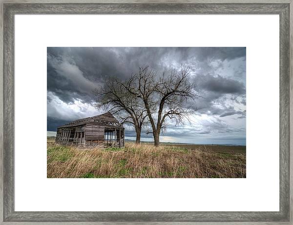 Storm Sky Barn Framed Print