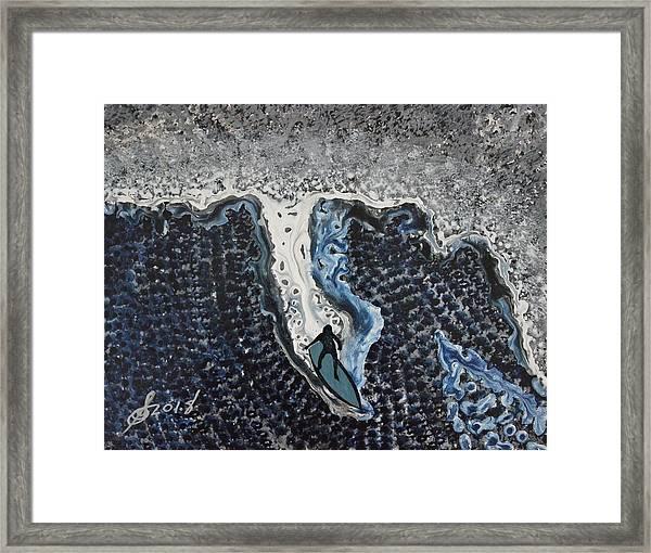 Storm Surfer Original Painting Sold Framed Print