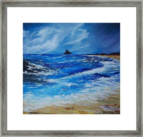 Storm To The East Of The Skellig Framed Print
