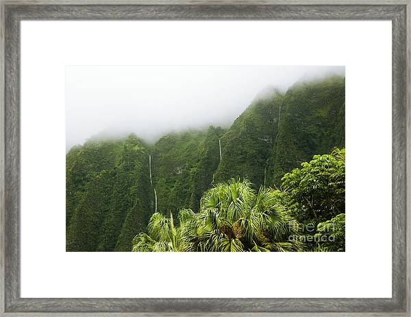 Storm Waterfalls Framed Print