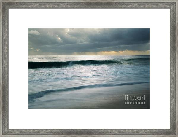 Stormcloud Over Keawaula Beach Framed Print