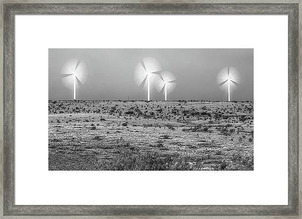 Storms And Halos Bw Framed Print