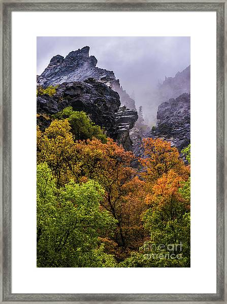 Stormy American Fork Canyon - Wasatch - Utah Framed Print