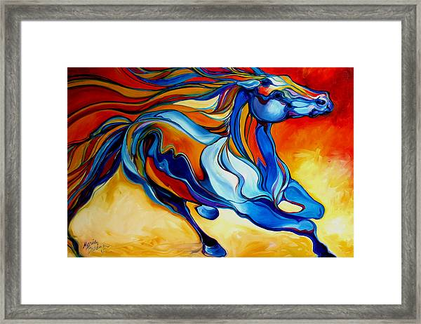 Stormy An Equine Abstract Southwest Framed Print