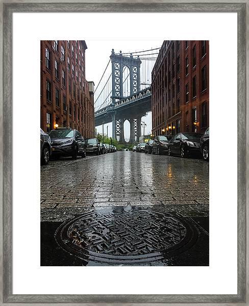 Stormy D U M B O  Framed Print