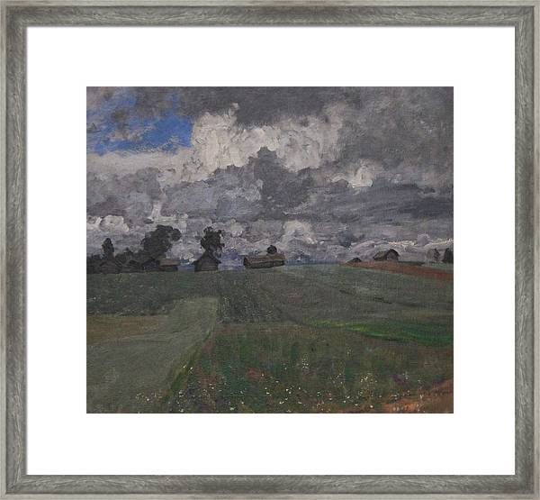 Stormy Day Framed Print by Isaac Levitan