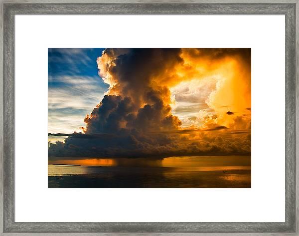Stormy Florida Keys Framed Print