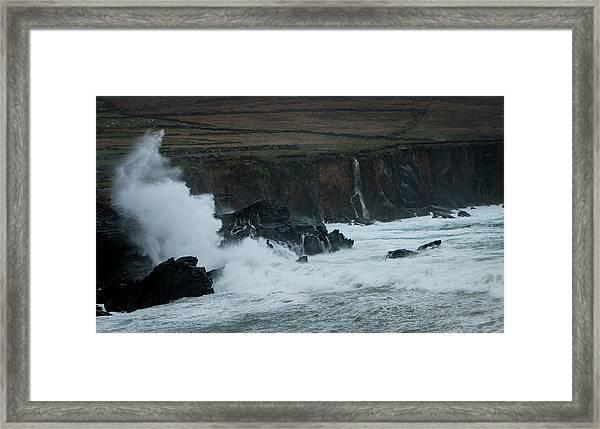 Stormy Irish Seas Framed Print by Nicole Robinson