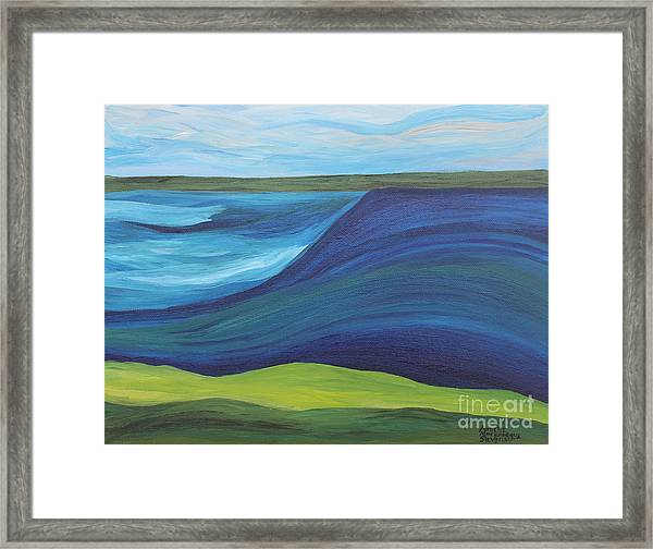 Stormy Lake Framed Print