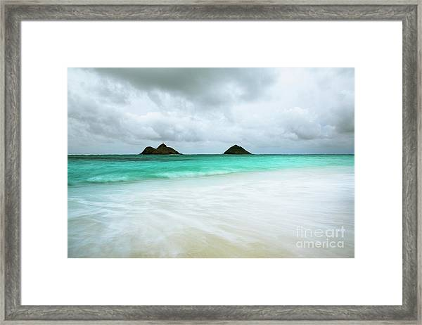 Stormy Lanikai Framed Print