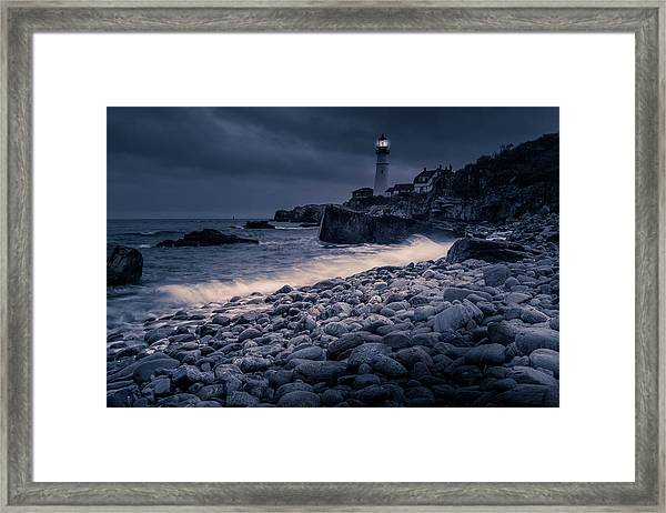 Stormy Lighthouse 2 Framed Print